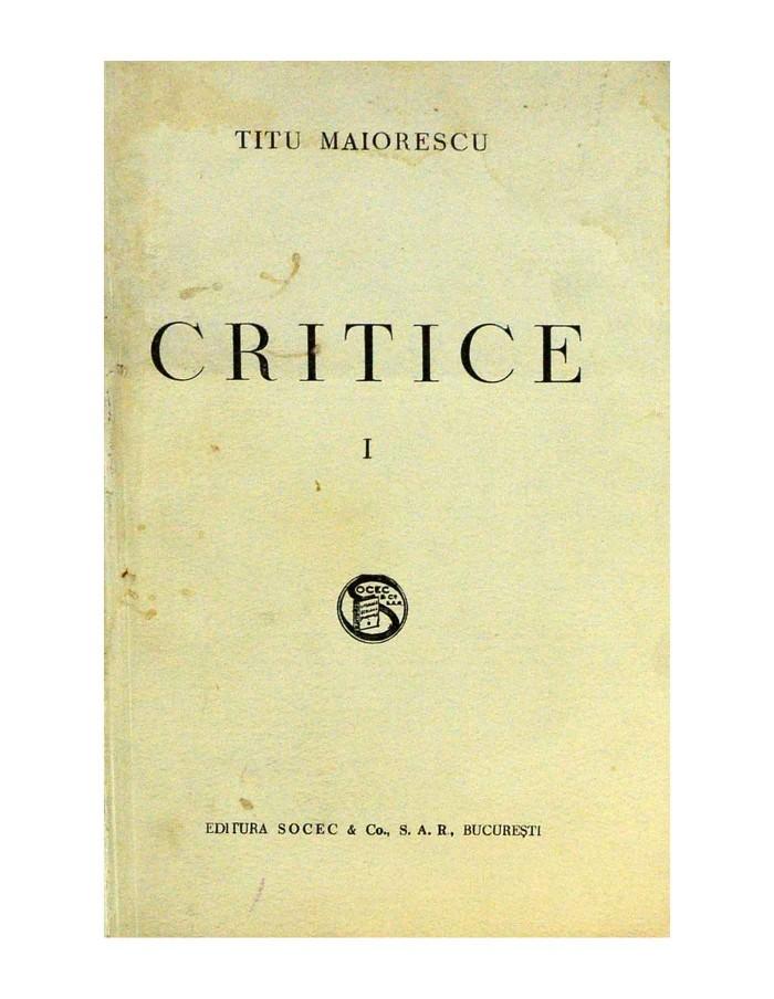 Critice Volumele I-II-III