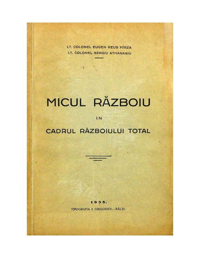 Micul Razboi in Cadrul Razboioului Total