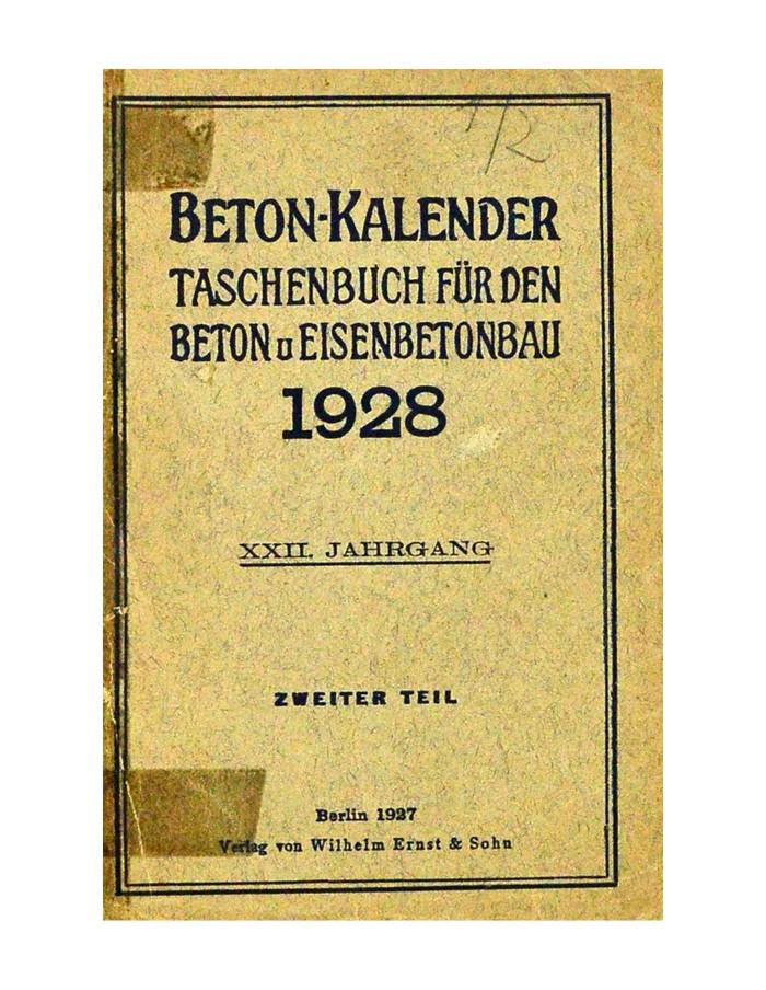Beton - Kalender 1928